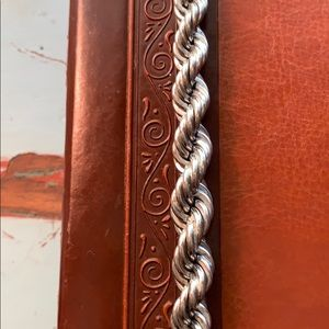 """sterling Silver HEAVY rope chain. 1/2"""" W  8"""" L"""
